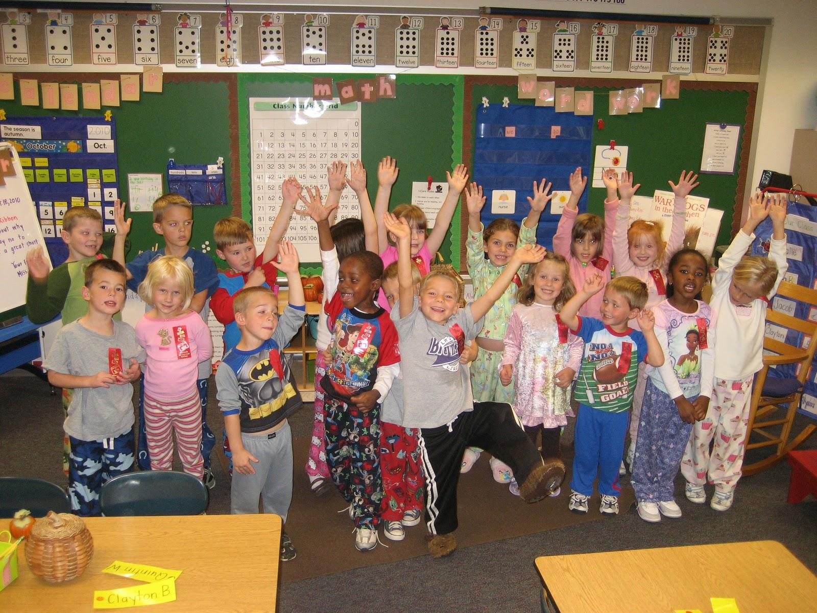 Mrs Petty S Kindergarten Classroom Pajama Day