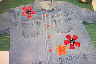 denim jacket with new buttons
