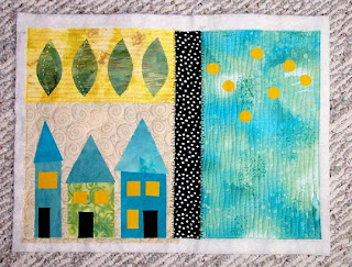 fabric fiber art collage quilt embroidery