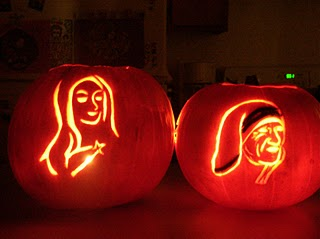Image result for pumpkins with catholic saints