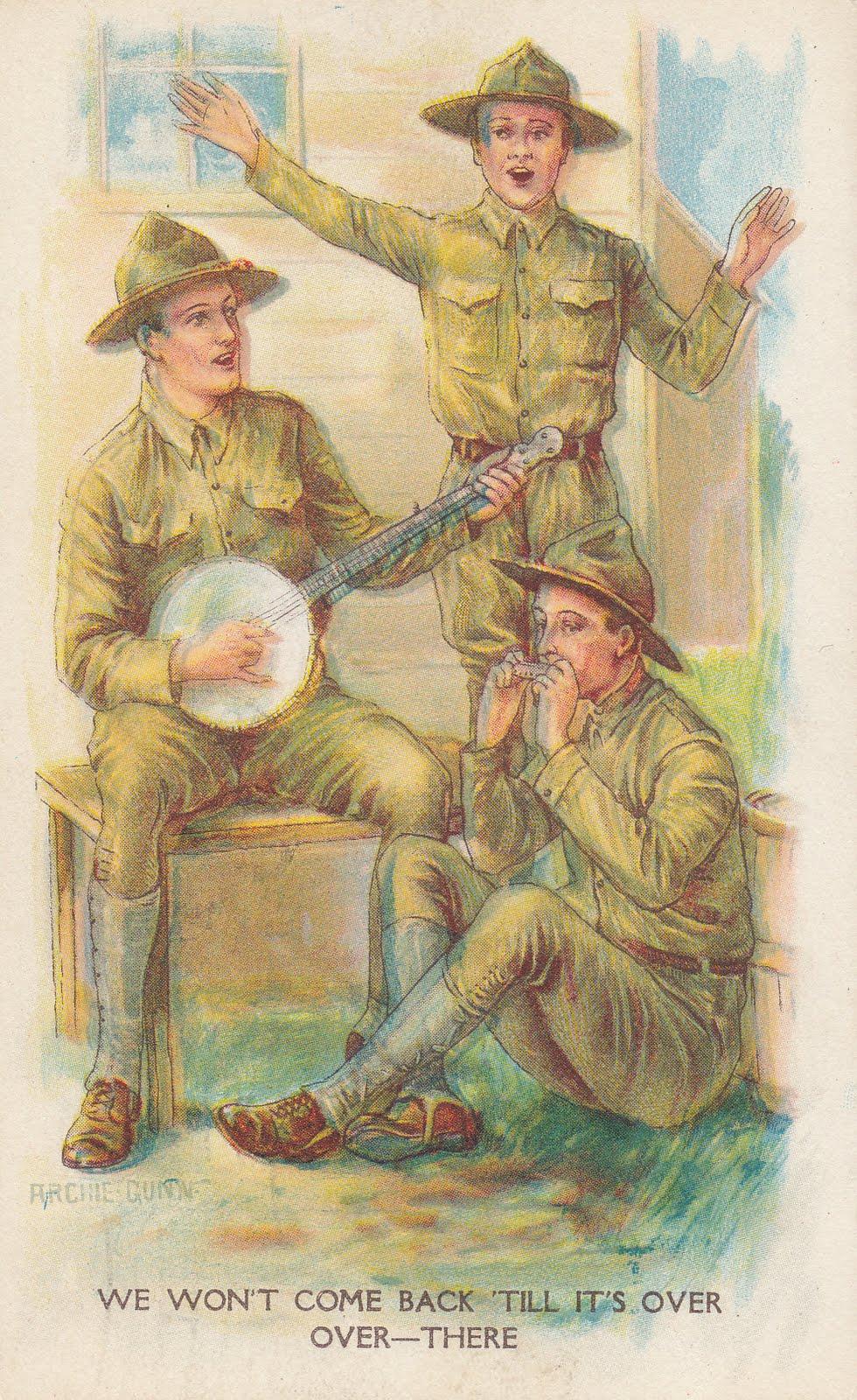 WWI Letters WWI Patriotic Postcards Camp Dix New Jersey 1918