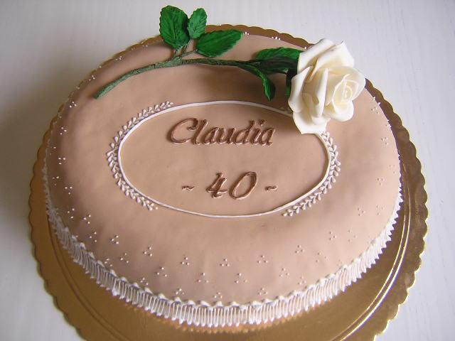 Le torte creative di Claudia Prati: Torta per il mio compleanno