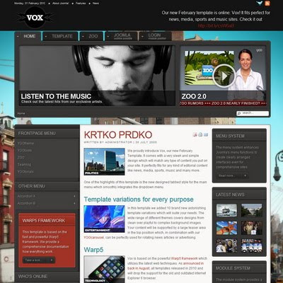 Yootheme vox joomla downloads for Yootheme joomla templates free download