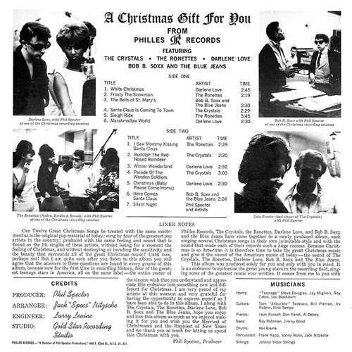 Ronettes Christmas.Music Archive Va A Christmas Gift For You From Phil Spector