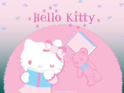 Hello Kitty World Hello Kitty Pink Wallpeper