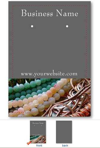 You Don T Have To Be A Graphic Designer Or Even Hire One Create Professional Looking Earring Cards That Can Easily Customize With Your Own Images