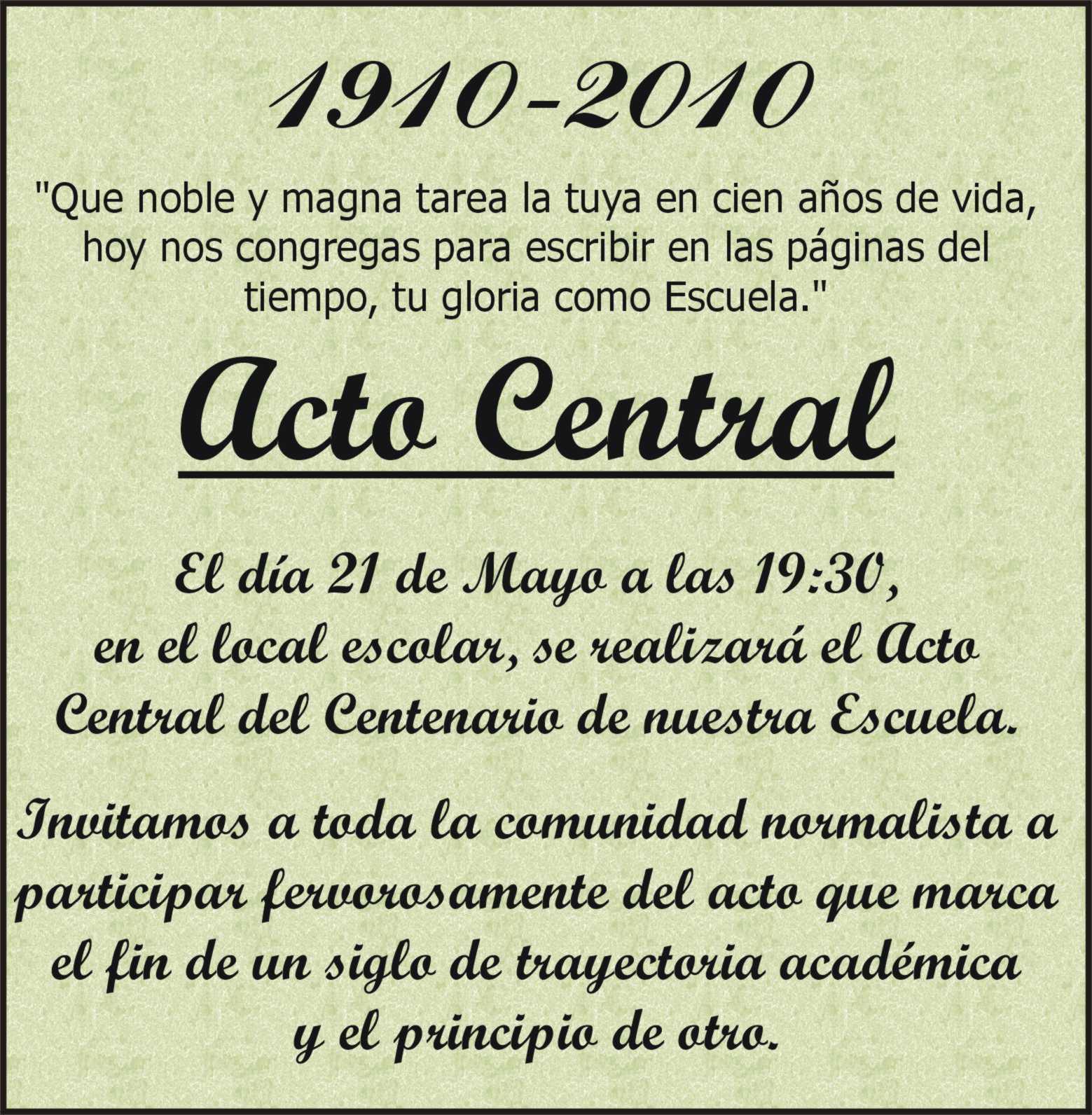 Centenario De La Escuela Normal De Resistencia 2010