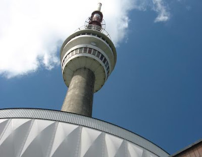 Praded communications tower. Praded is the highest mountain in Moravia