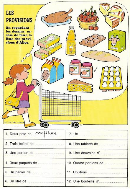 Jedzenie i napoje - powtórka - ćwiczenie 5 - Francuski przy kawie