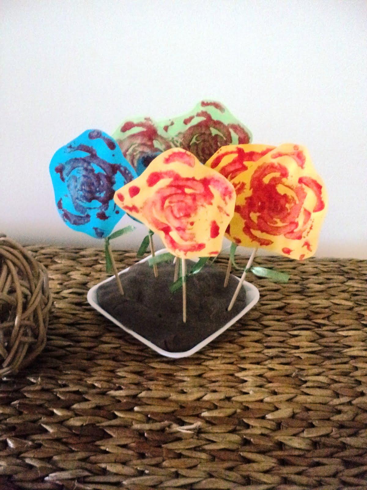 פרחים מהחתמת בסיס סלרי