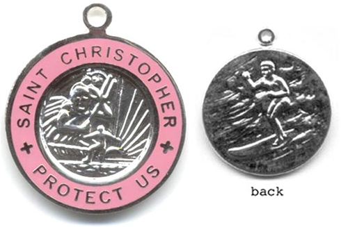 Retro St. Christopher Medals
