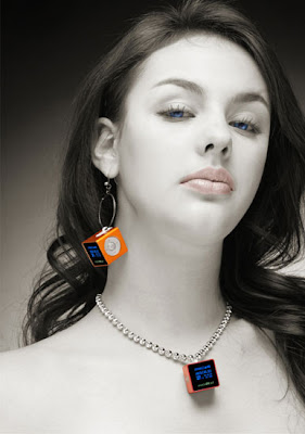 This is such a small mp3 player that it can be hung in a necklace or earing