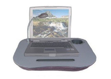 Laptop tray with handy light and cup holder