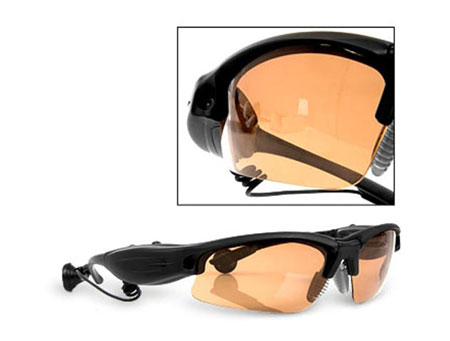 Spy glasses camera with mp3 player
