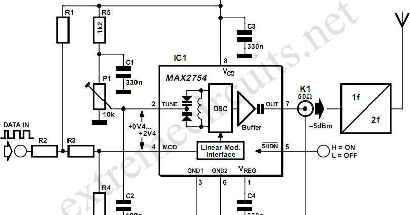 2ghz vco with linear modulation circuit diagram