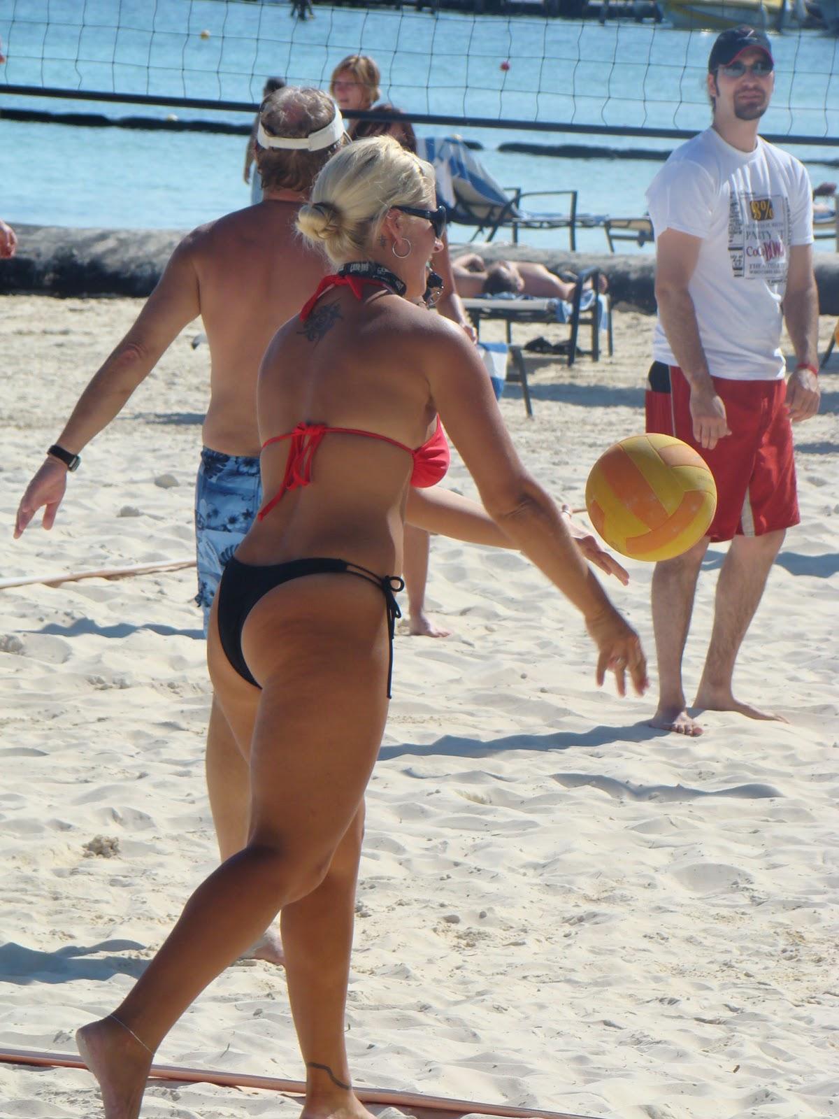 player bikini Volleyball hot
