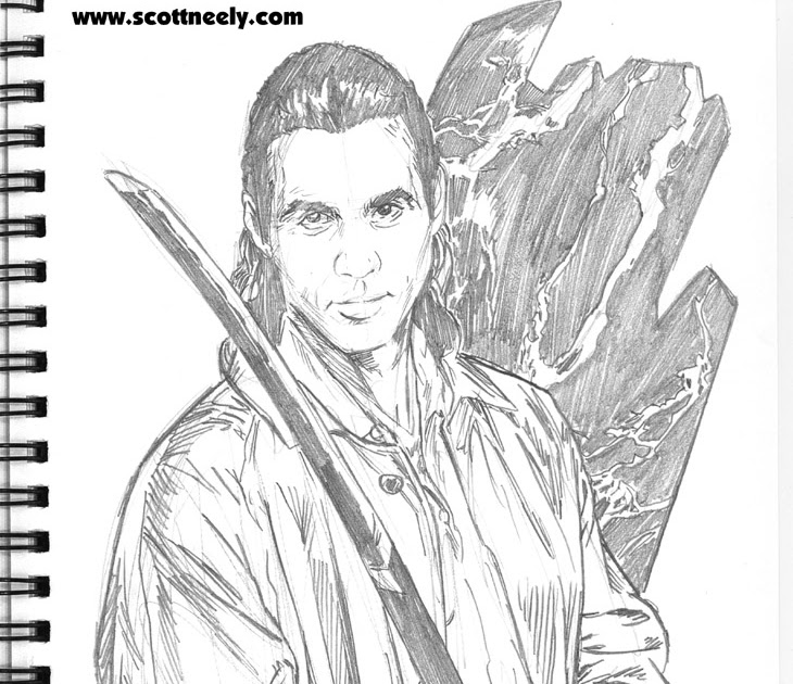 Scott Neely's Scribbles and Sketches!: ADRIAN PAUL as the