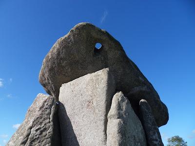Trevethy Quoit capstone hole
