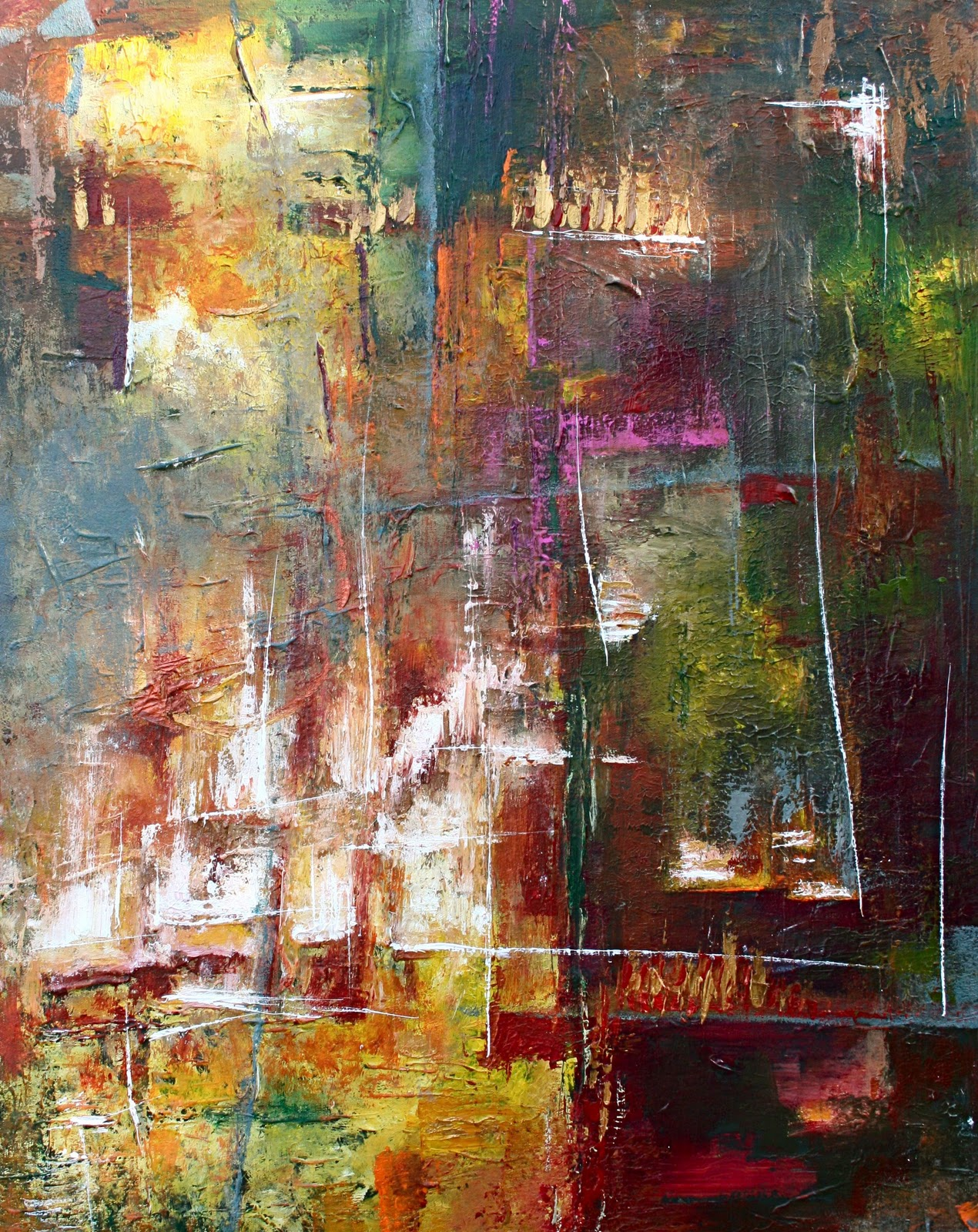 Daily Painters Abstract Gallery: Lavish....Modern