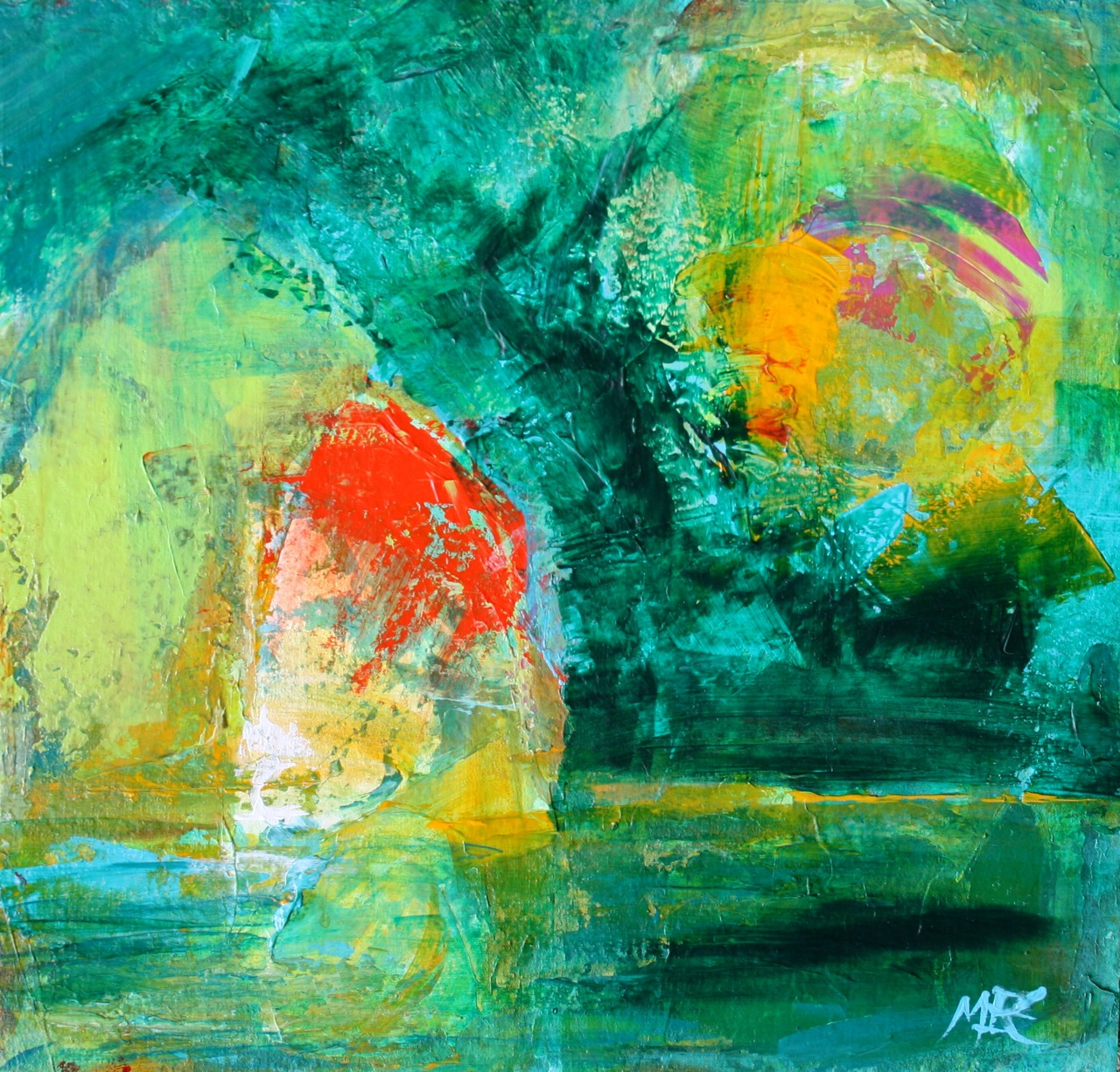 Daily Painters Abstract Gallery: Mi Casa, Modern ...