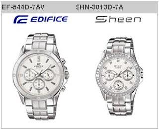 Time Horizone: Casio Edifice and Sheen Pair