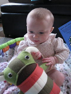 baby darah with plush monster