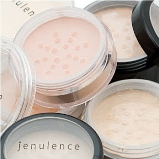 stock photo of jenulence mineral foundation