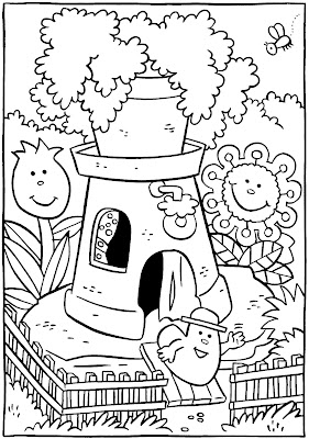 House coloring pages free for Little house coloring pages