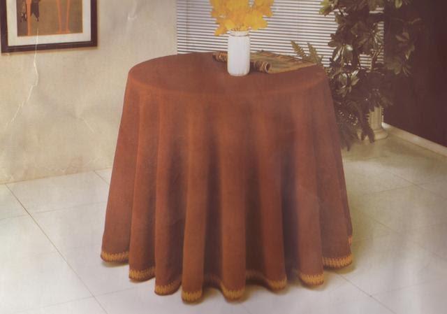 Manualidades sin salir de casa Como cortar tela para una mesa redonda