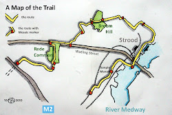 A diagram of the trail