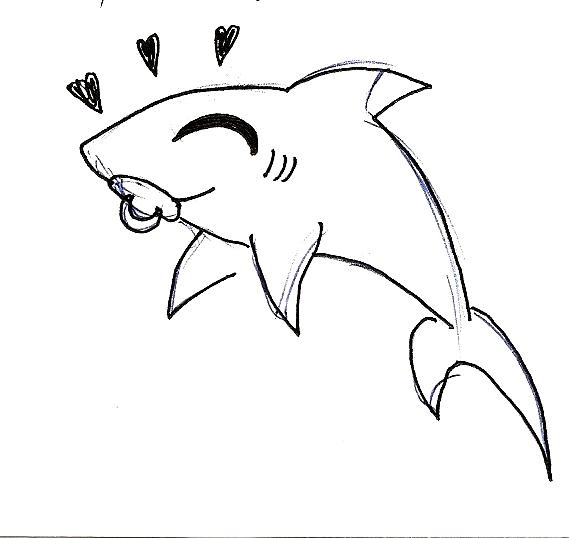 Dibujo De Tiburón Tigre Para Colorear Dibujos Net