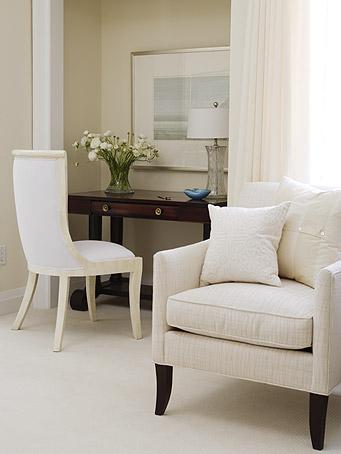 Sarah Richardson furniture in a serene bedroom