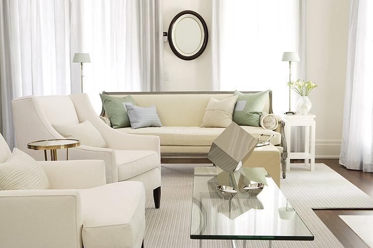 Pastel living room with Sarah Richardson furniture
