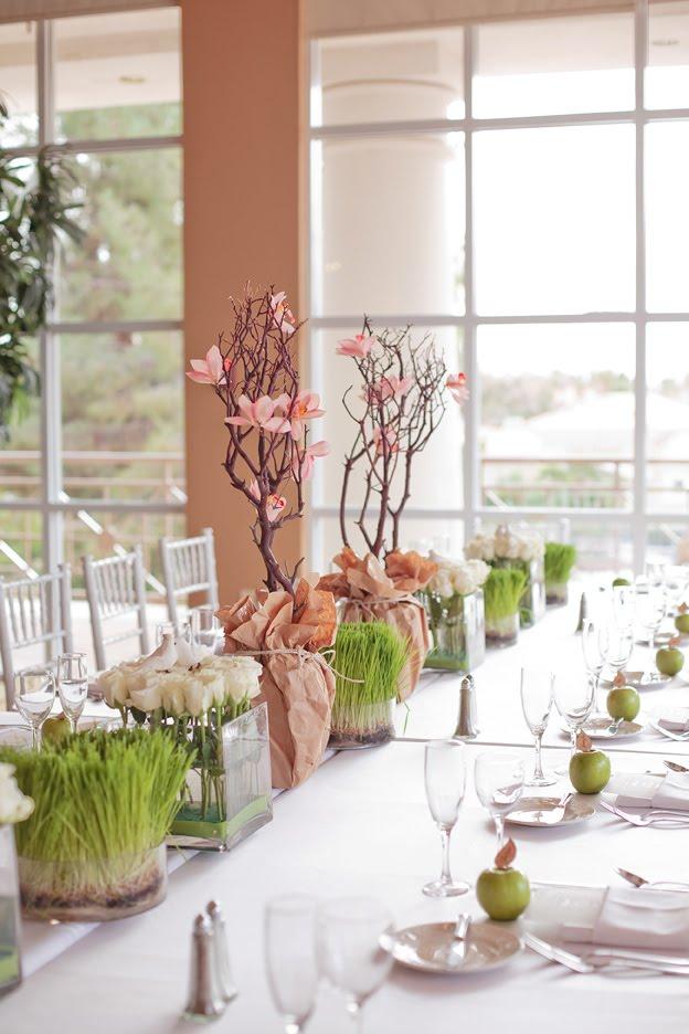 Eccezionale Sposa Glamour: Idee per la tavola in verde con tema la natura FH07