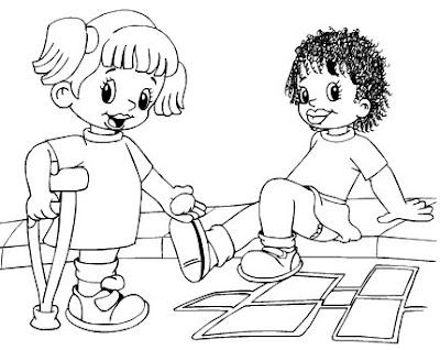 Inclusao Para Colorir Ensinando Com Carinho