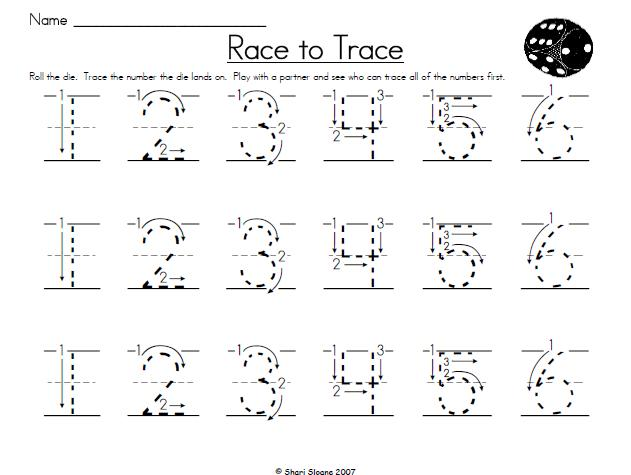 Homeschool Parent: Race To Trace Game