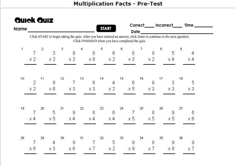 Multiplication Timed Test Worksheet Virallyapp Printables Worksheets – Minute Maths Worksheets