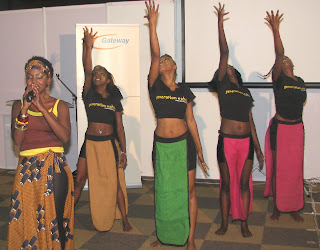 "Finally, the forum at AITEC ended by DCA hosting the famous local Sarakazi dancers and the famous local singer, radio personality Patricia Wangechi Kihorolast, also composer of the ""It is time for dotafrica"" song, co-edited by DCA. (Right). Press releasehttp://prlog.org/10916169:"