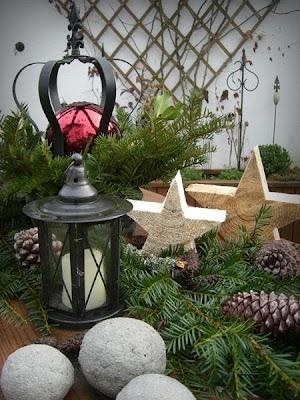 Broceliandes Gartenträume : Adventsdeko Im Garten