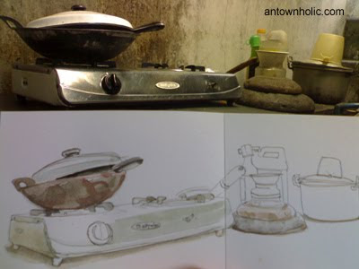 Urban Sketchers Indonesia Soerockbaya Set Peralatan Dapur