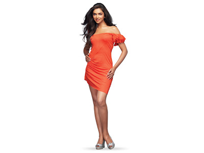 Deepika Padukone: Deepika Padukone in Orange Dress