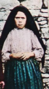 Lucia, one of the three children shepherd