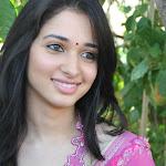Actress Tamanna cute in pink saree