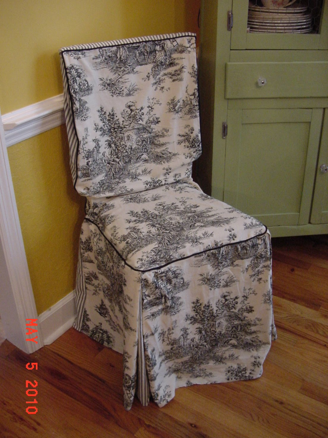 Dining Room Chair Seat Cushion Covers Stools White Cover Slip Toile – Pads & Cushions