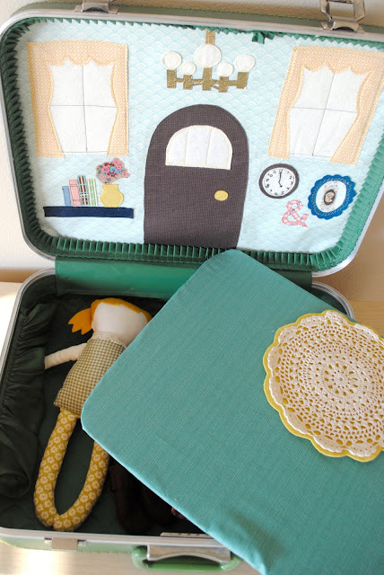 Suitcase to dollhouse