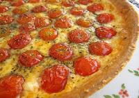 Tarta de Queso y Tomates Cherry