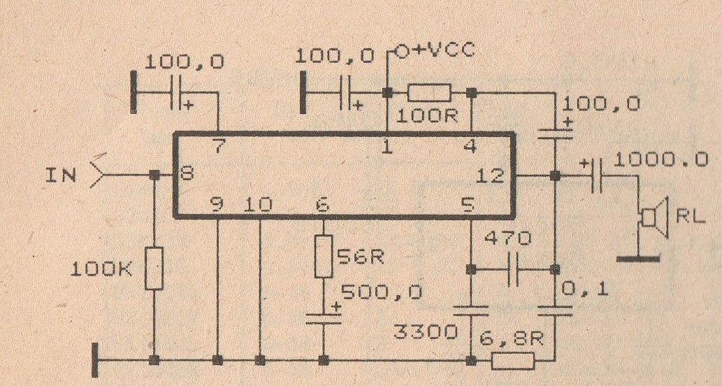 tba810 audio power amplifier electronic circuit rh elcircuit com
