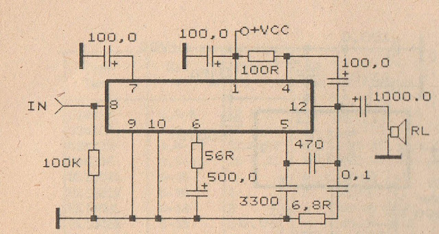 TBA810 Audio Power Amplifier circuit diagram