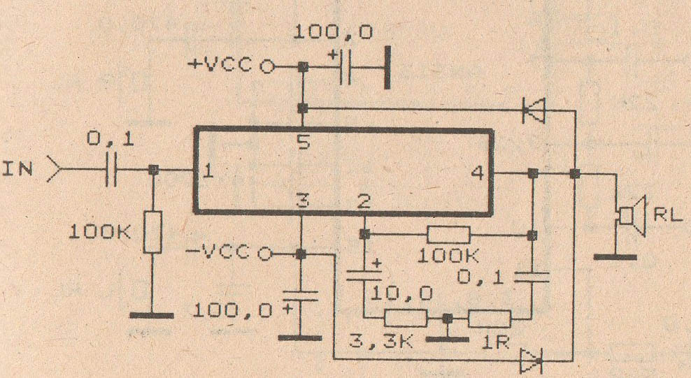 audio amplifier circuit with ic tda2030 electronic circuitaudio amplifierw circuit with ic tda2030