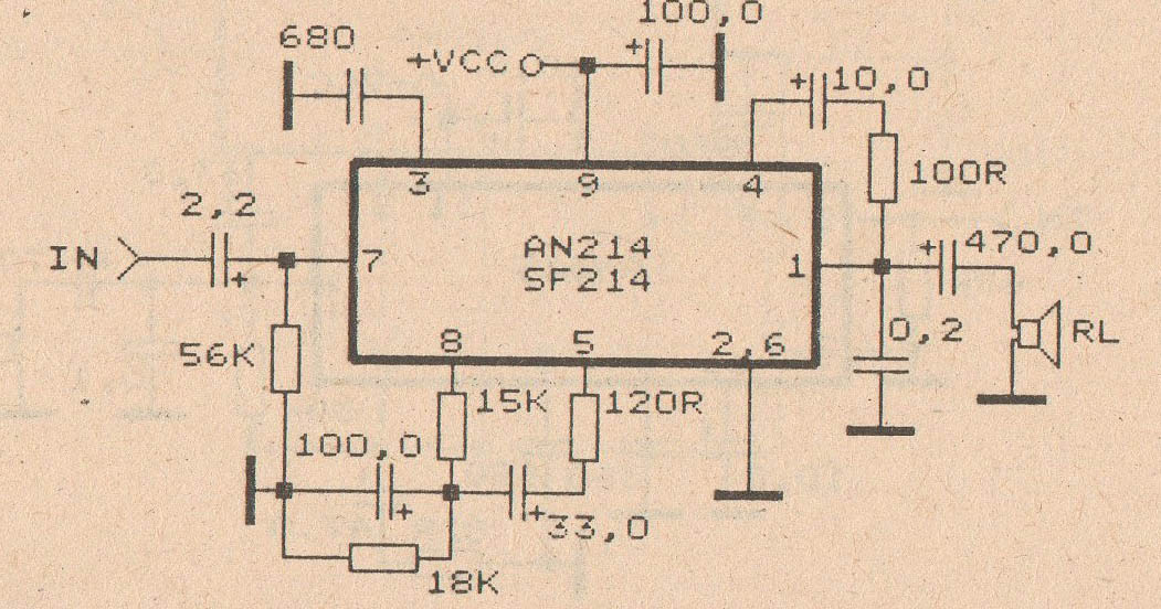 schematic audio amplifier with ic an214 diy circuit rh avecircuits blogspot com Amplifier Schematic Diagram Voltage Amplifier Schematic
